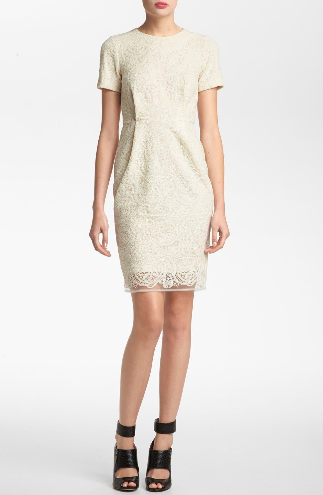 Alternate Image 1 Selected - Topshop 'Elfin' Lace Sheath Dress