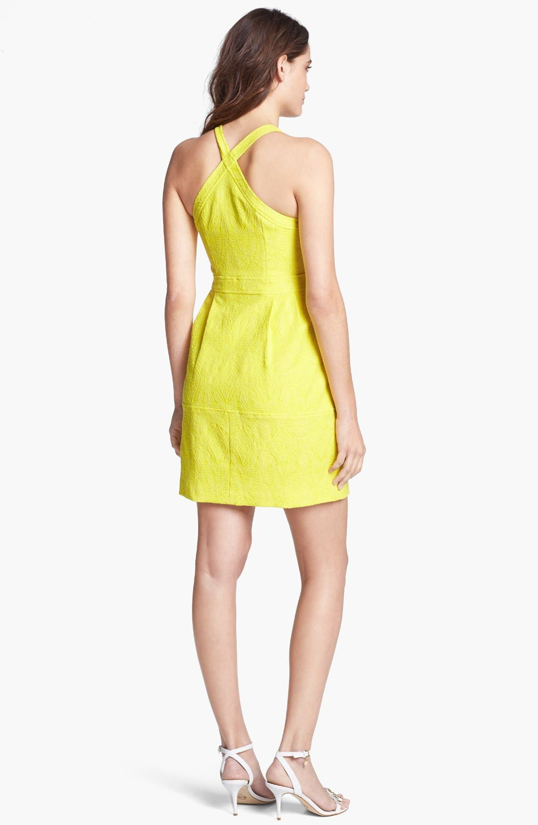 Alternate Image 2  - Nanette Lepore 'Honeymoon' Cotton Blend A-Line Dress