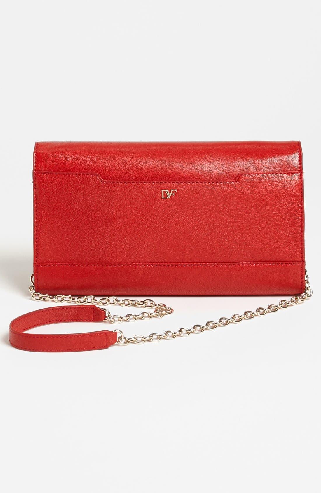 Alternate Image 3  - Diane von Furstenberg 'Flirty' Leather Clutch