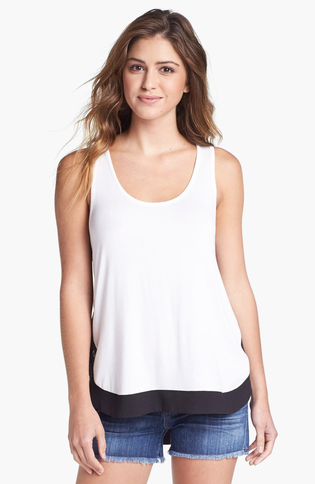 Alternate Image 1 Selected - Pleione Side Snap Knit Tank