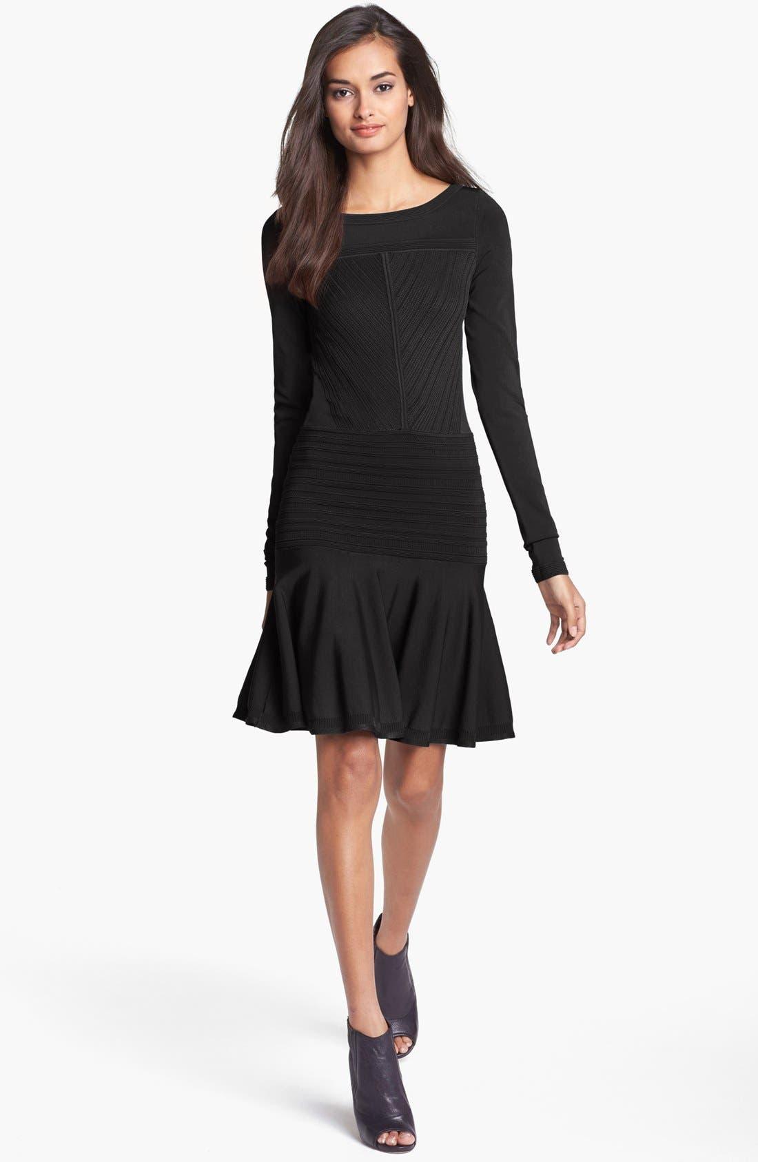 Alternate Image 1 Selected - Diane von Furstenberg 'Delta' Knit A-Line Dress