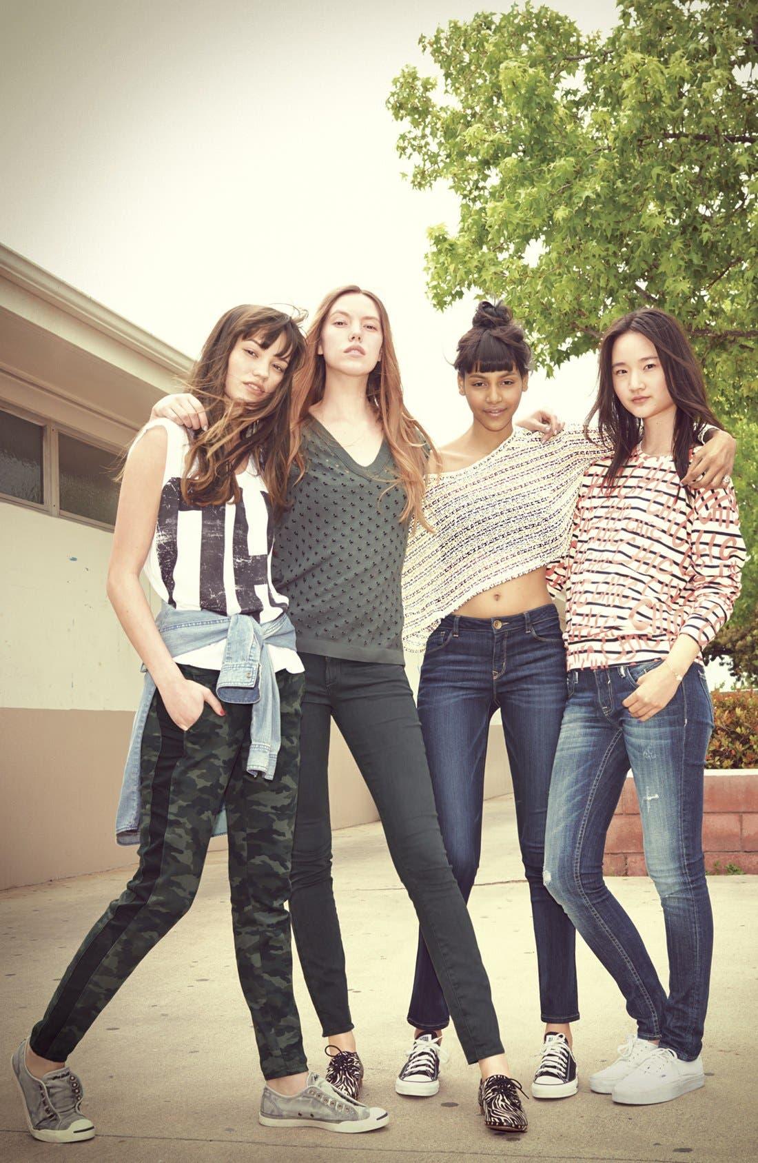 Alternate Image 5  - STS Blue Tuxedo Stripe Camo Print Pants (Juniors)