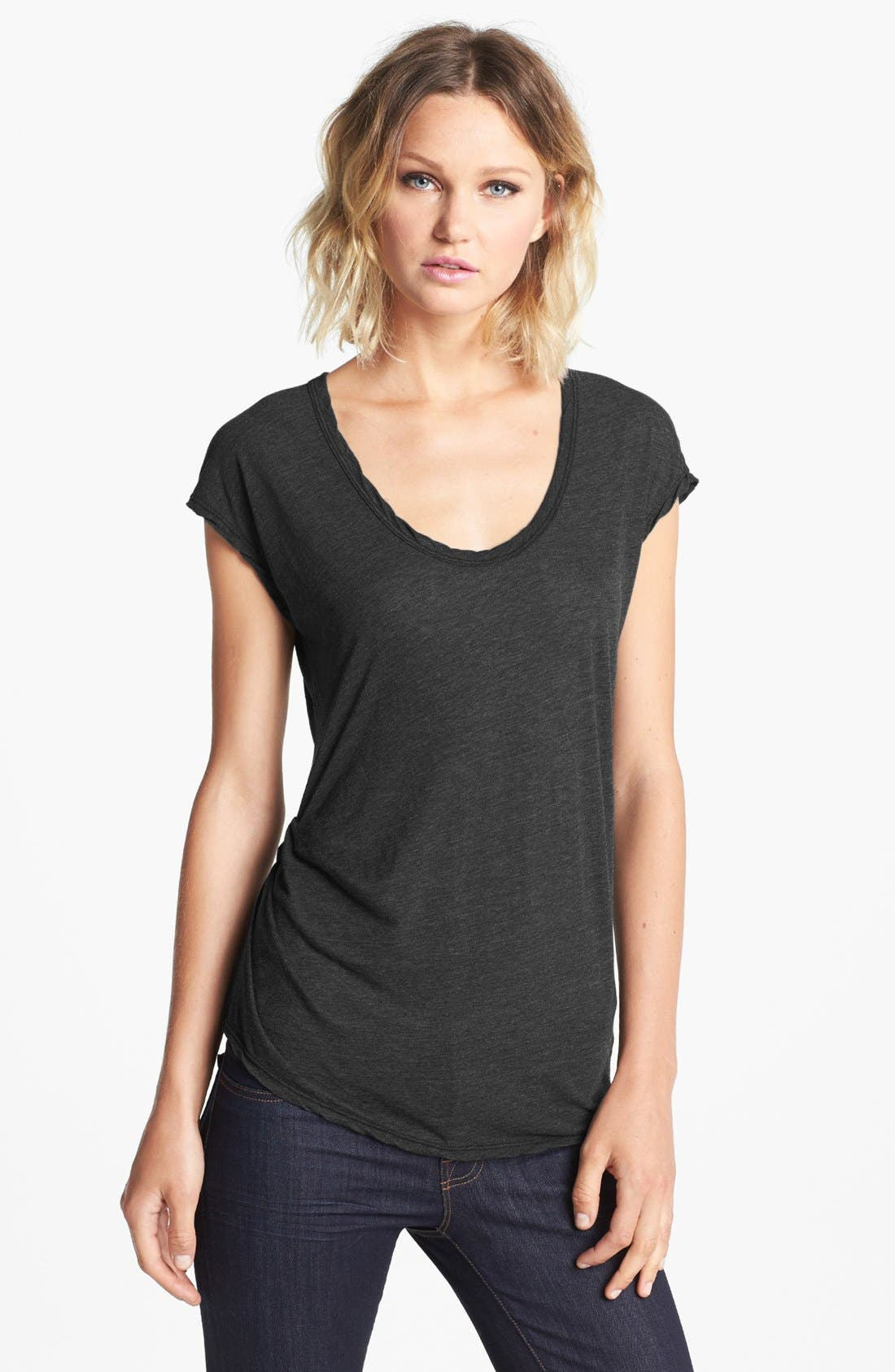 Alternate Image 1 Selected - James Perse Asymmetrical Tuck Tee