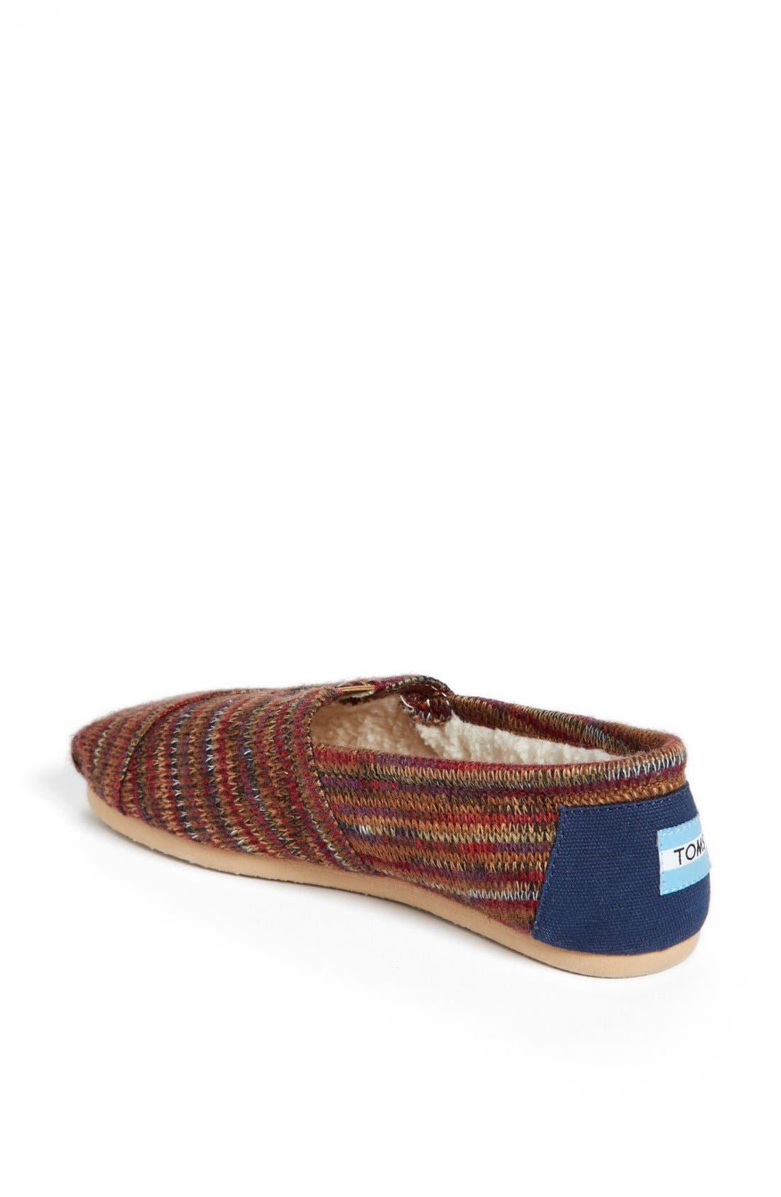 Alternate Image 2  - TOMS 'Classic - Rust Knit' Slip-On (Women)
