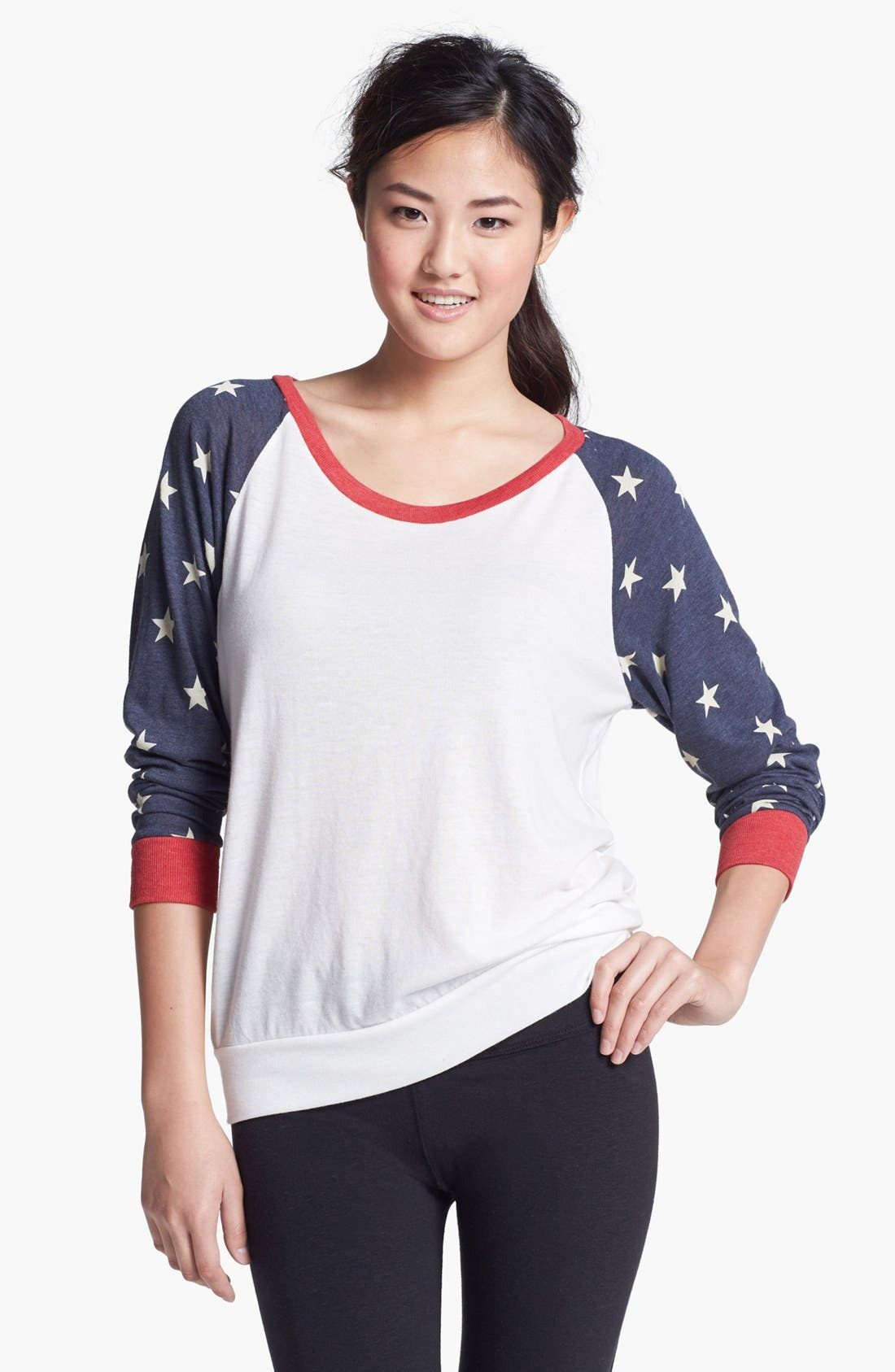 Alternate Image 1 Selected - Alternative Print Slouchy Pullover Top
