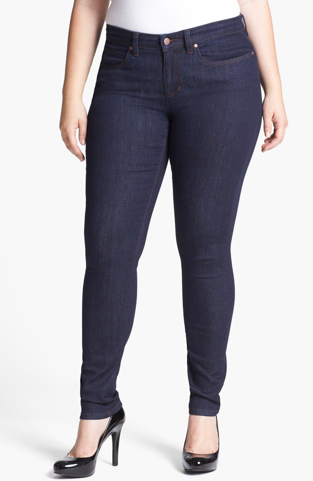 Alternate Image 1 Selected - Eileen Fisher Skinny Jeans (Plus Size)