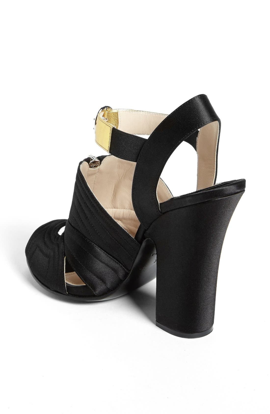 Alternate Image 2  - Prada Quilted Zipper Sandal