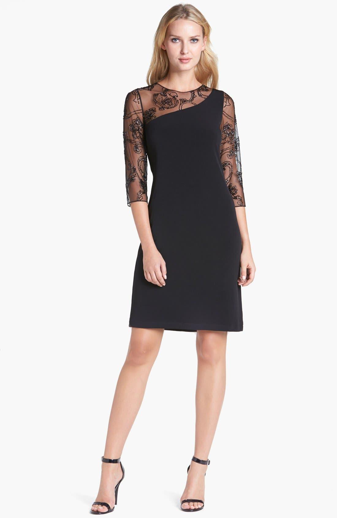 Alternate Image 1 Selected - Patra Illusion Yoke Jersey Dress