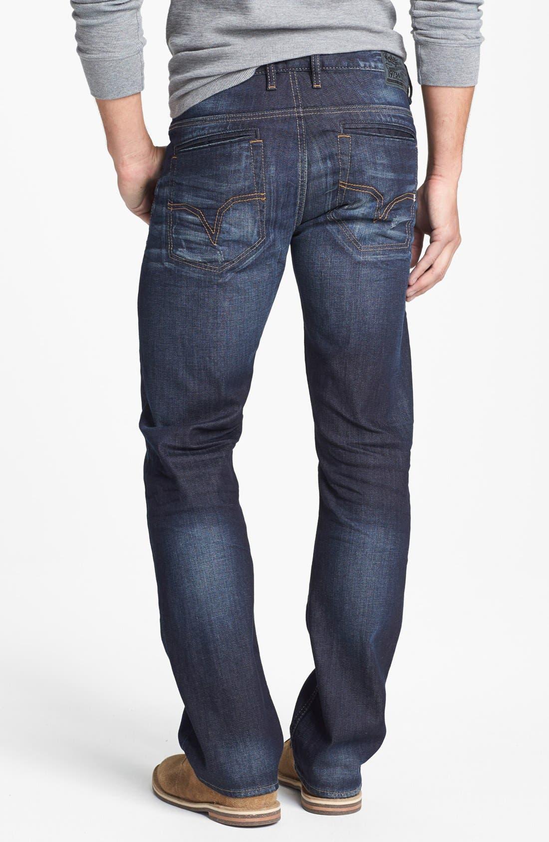 Alternate Image 2  - Buffalo Jeans 'Six' Straight Leg Jeans (Slightly Washed)
