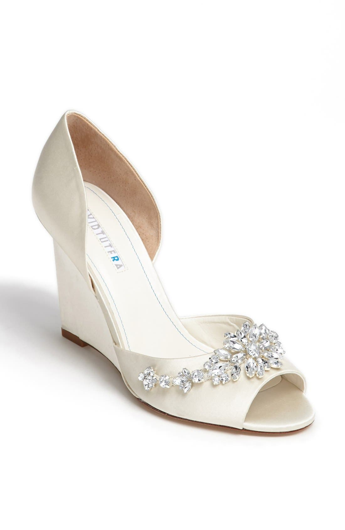 Main Image - David Tutera 'Winter' Wedge Sandal (Online Only)