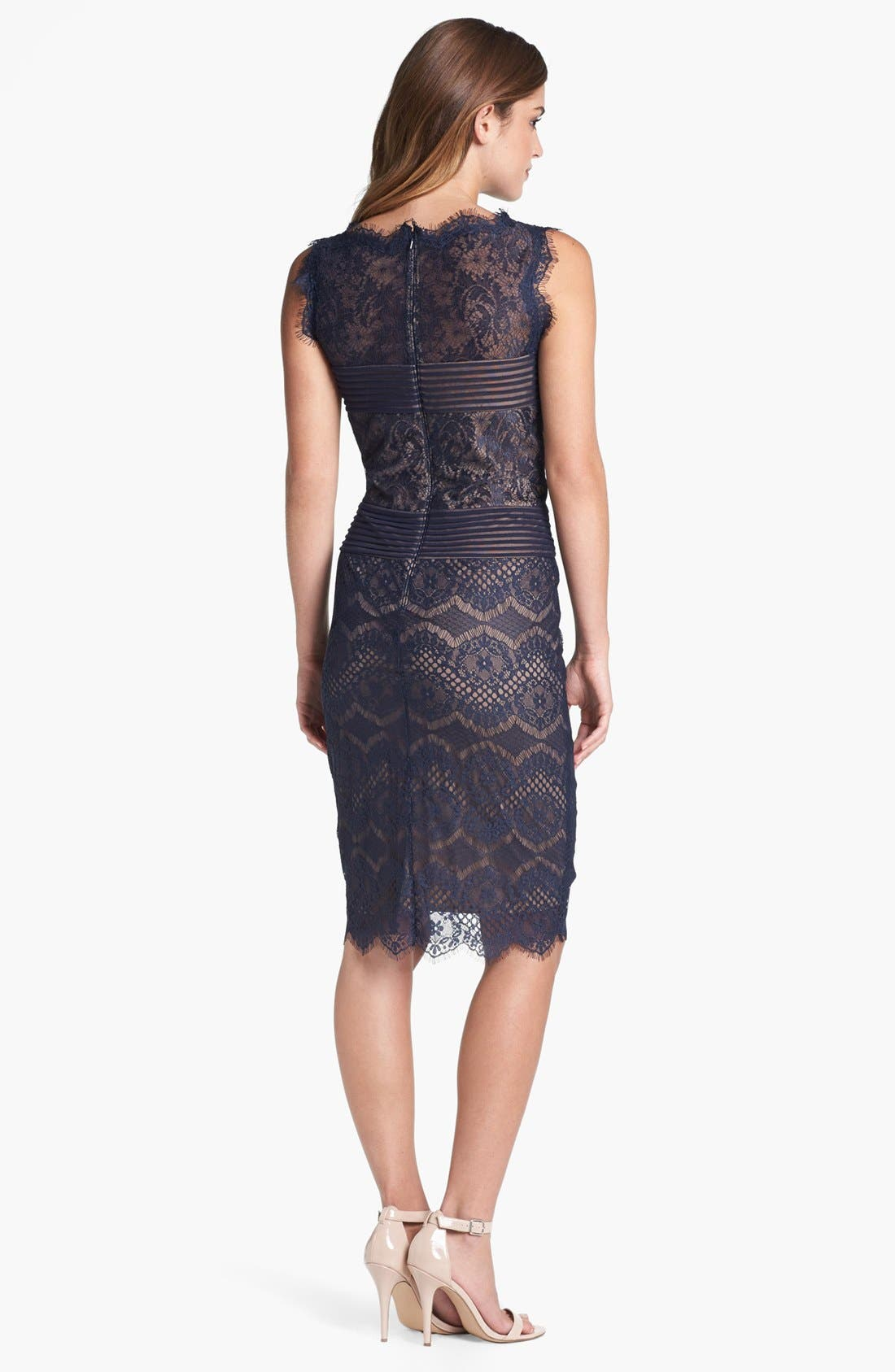 Alternate Image 2  - Tadashi Shoji Lace Sheath Dress (Regular & Petite)