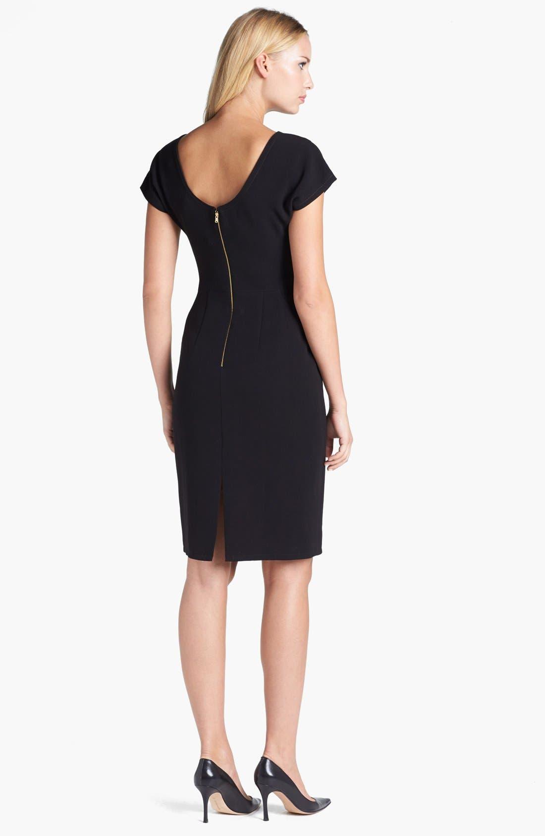 Alternate Image 2  - Rachel Roy Stud Detail Scoop Back Sheath Dress