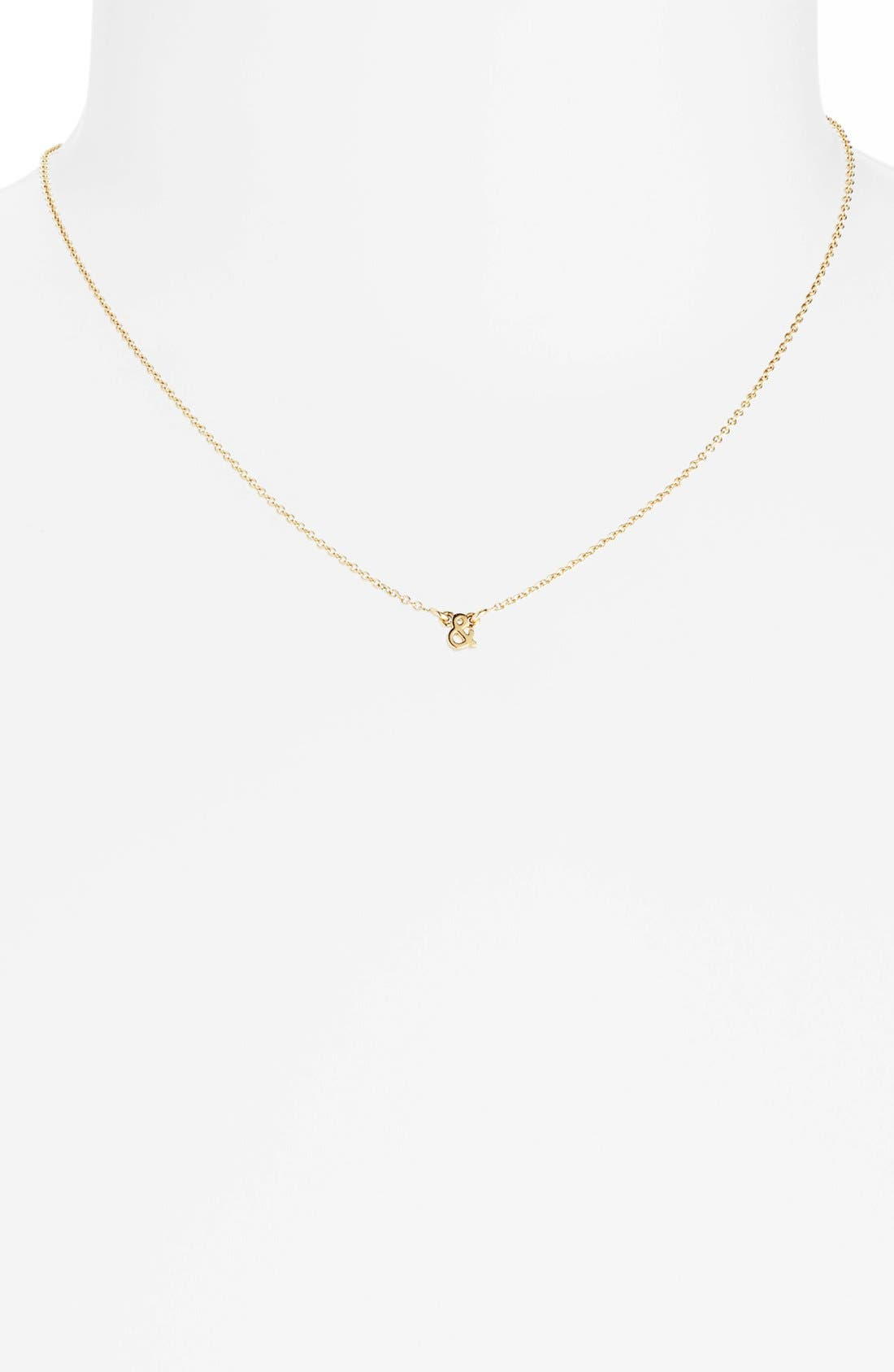 Alternate Image 1 Selected - kate spade new york 'say yes' ampersand pendant necklace