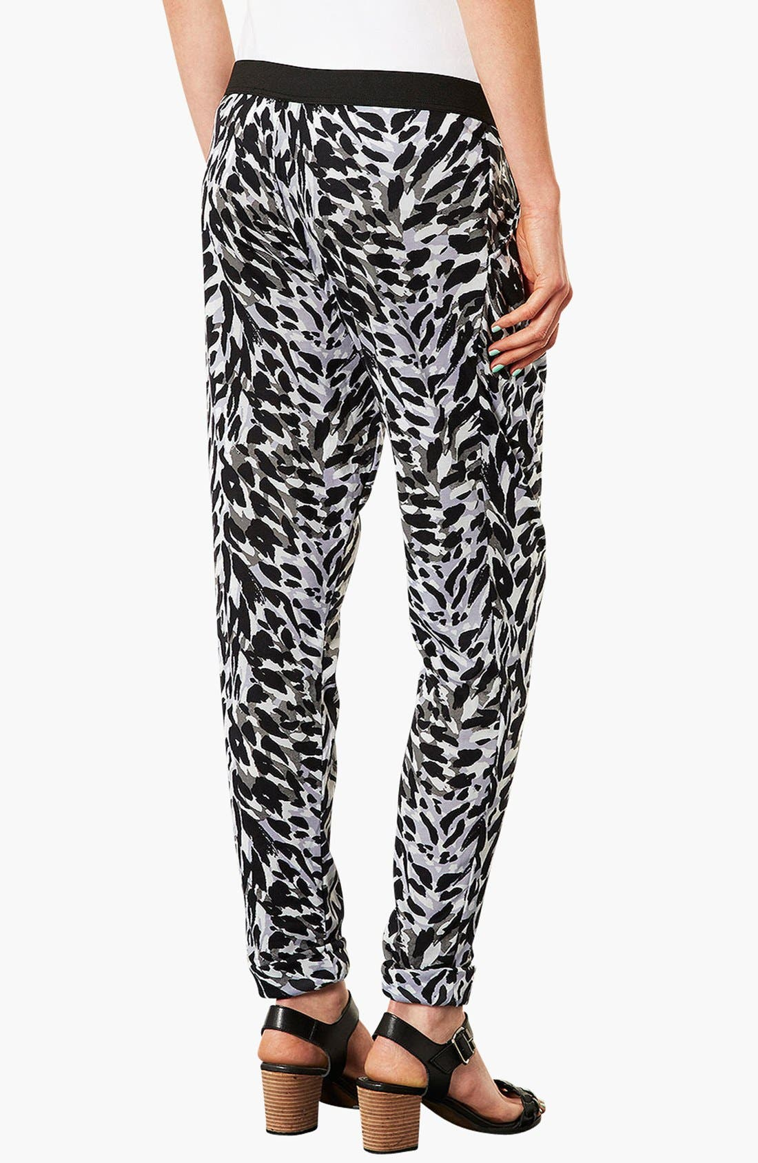 Alternate Image 3  - Topshop 'Contrast Cat' Tapered Maternity Trousers