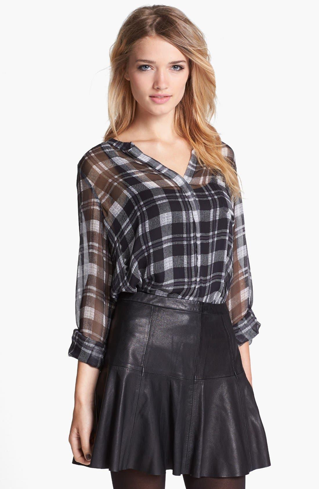 Alternate Image 1 Selected - Joie 'Brigid' Plaid Silk Shirt