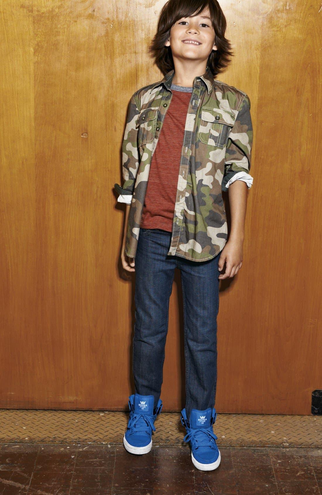 Alternate Image 2  - Tucker + Tate 'Bluewater' Camo Sport Shirt (Little Boy)