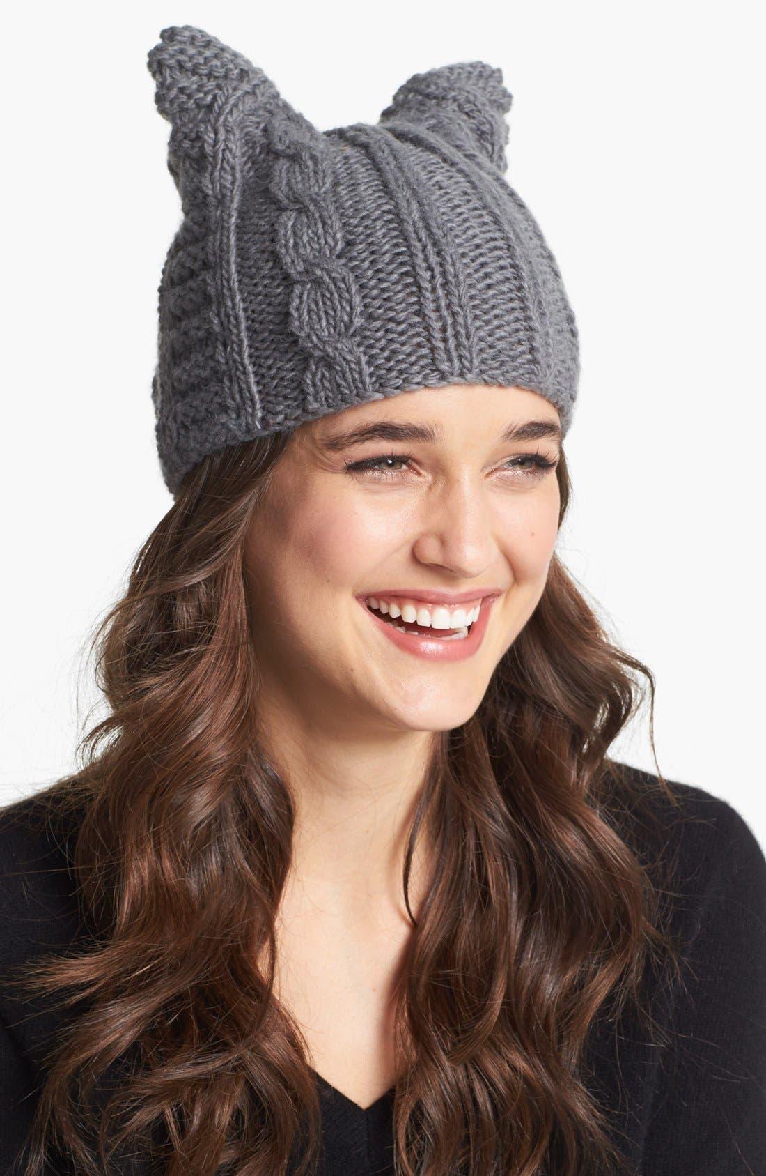 Alternate Image 1 Selected - August Hat Owl Ear Knit Cap