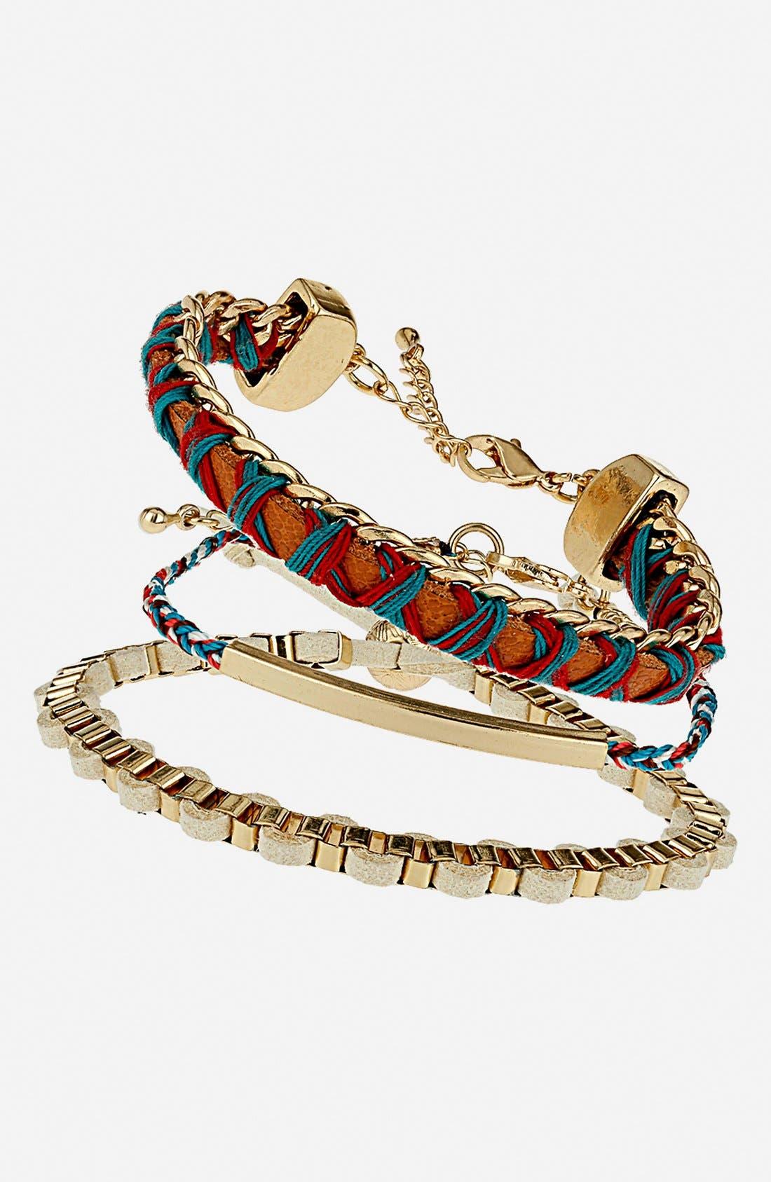 Alternate Image 1 Selected - Topshop Friendship Bracelets (Set of 3)