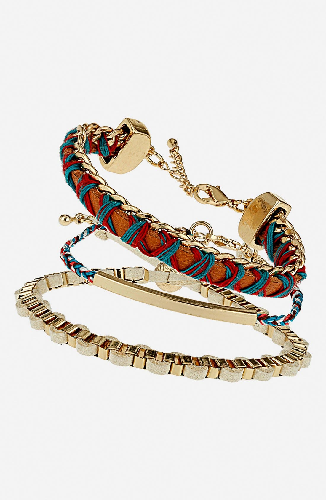 Main Image - Topshop Friendship Bracelets (Set of 3)