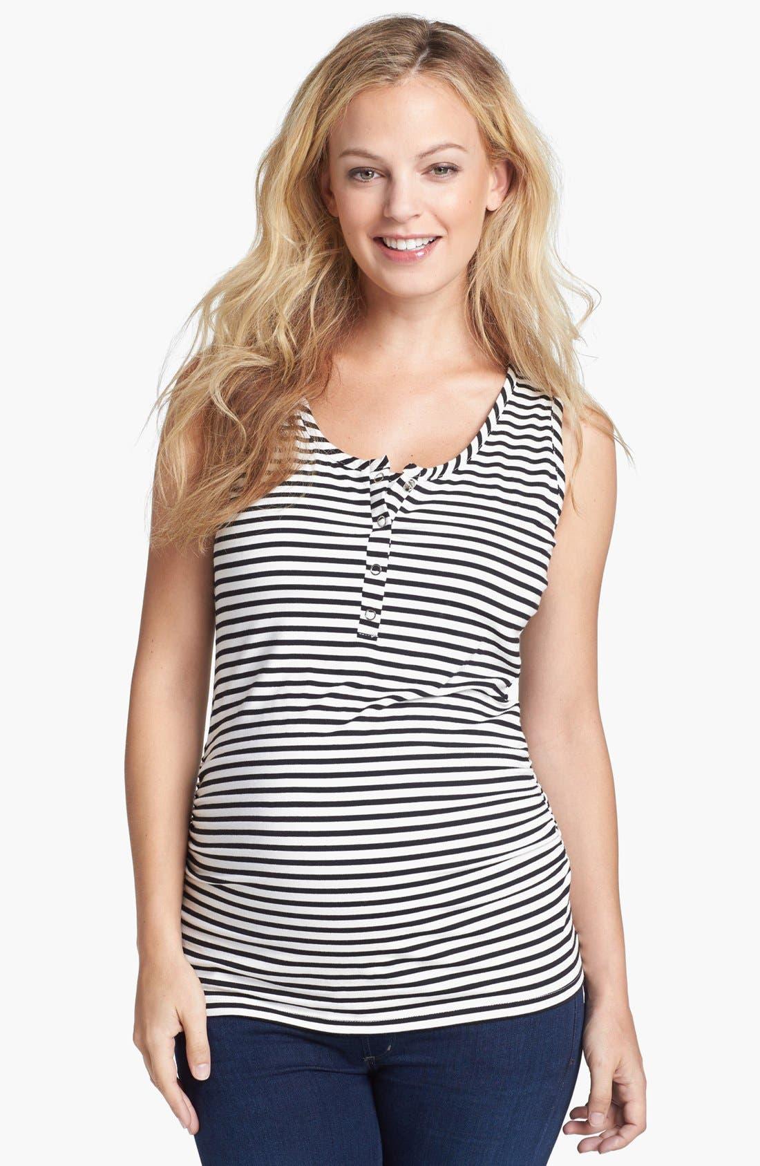 Main Image - Nom Maternity Henley Maternity Tank Top