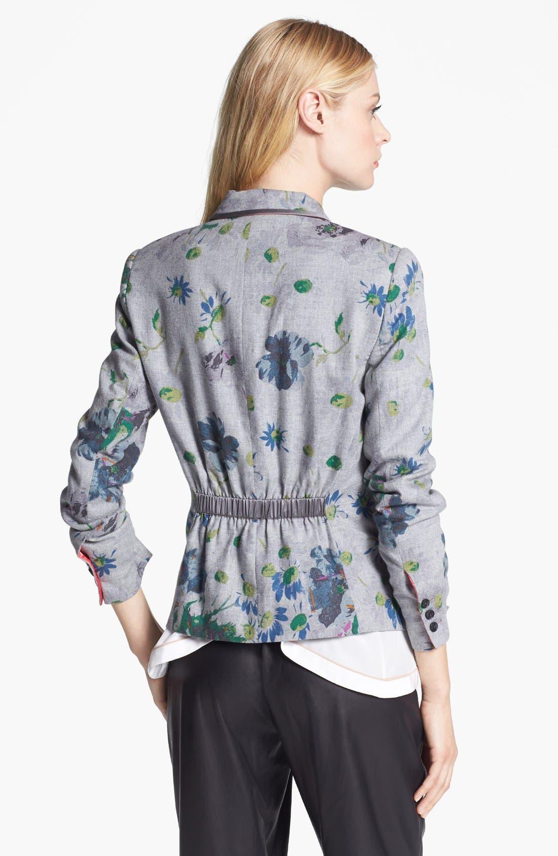 Alternate Image 3  - Elizabeth and James 'Bourne' Floral Print Flannel Jacket