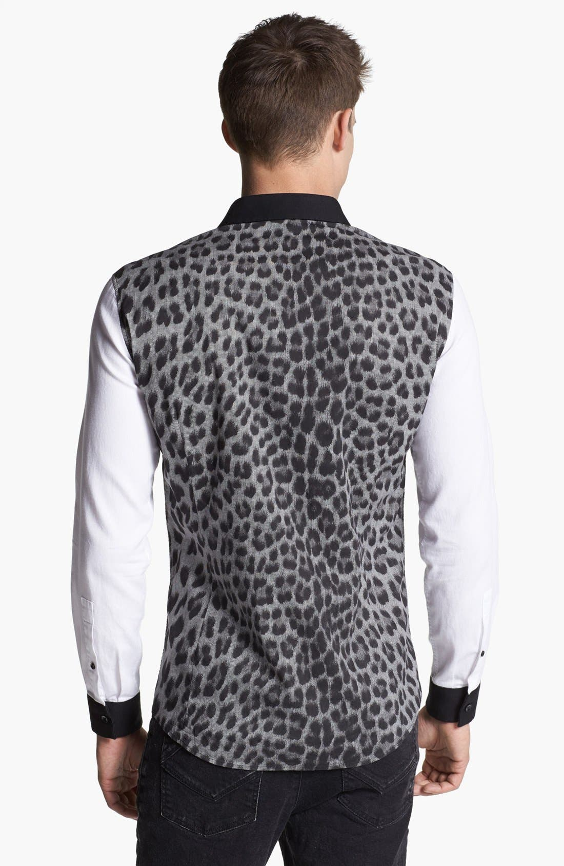 Alternate Image 2  - Just Cavalli Leopard Print Sport Shirt