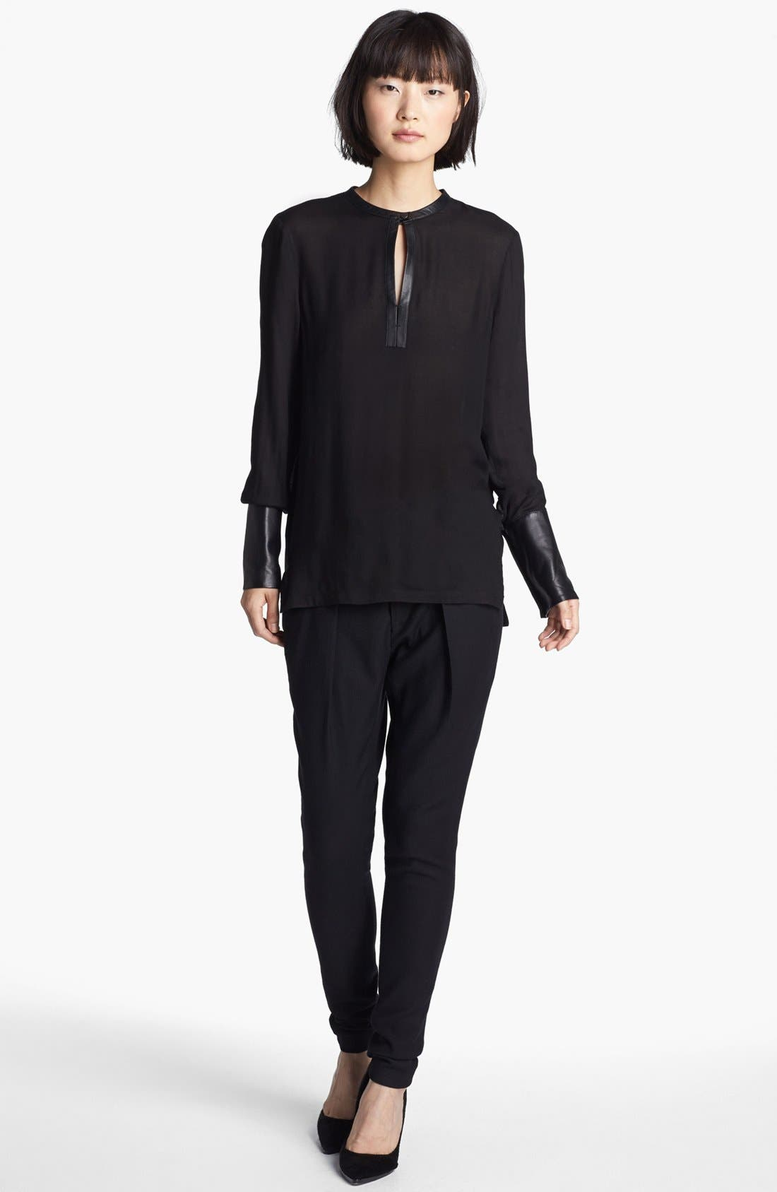 Alternate Image 2  - Helmut Lang Leather Cuff Blouse