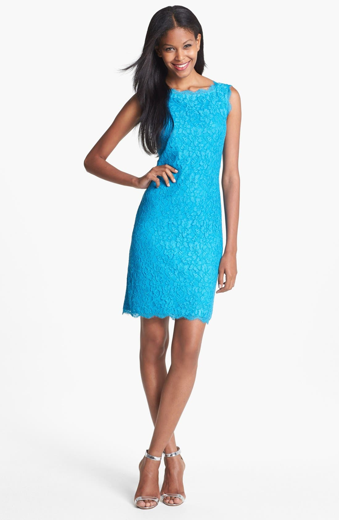 Alternate Image 1 Selected - Adrianna Papell Lace Sheath Dress