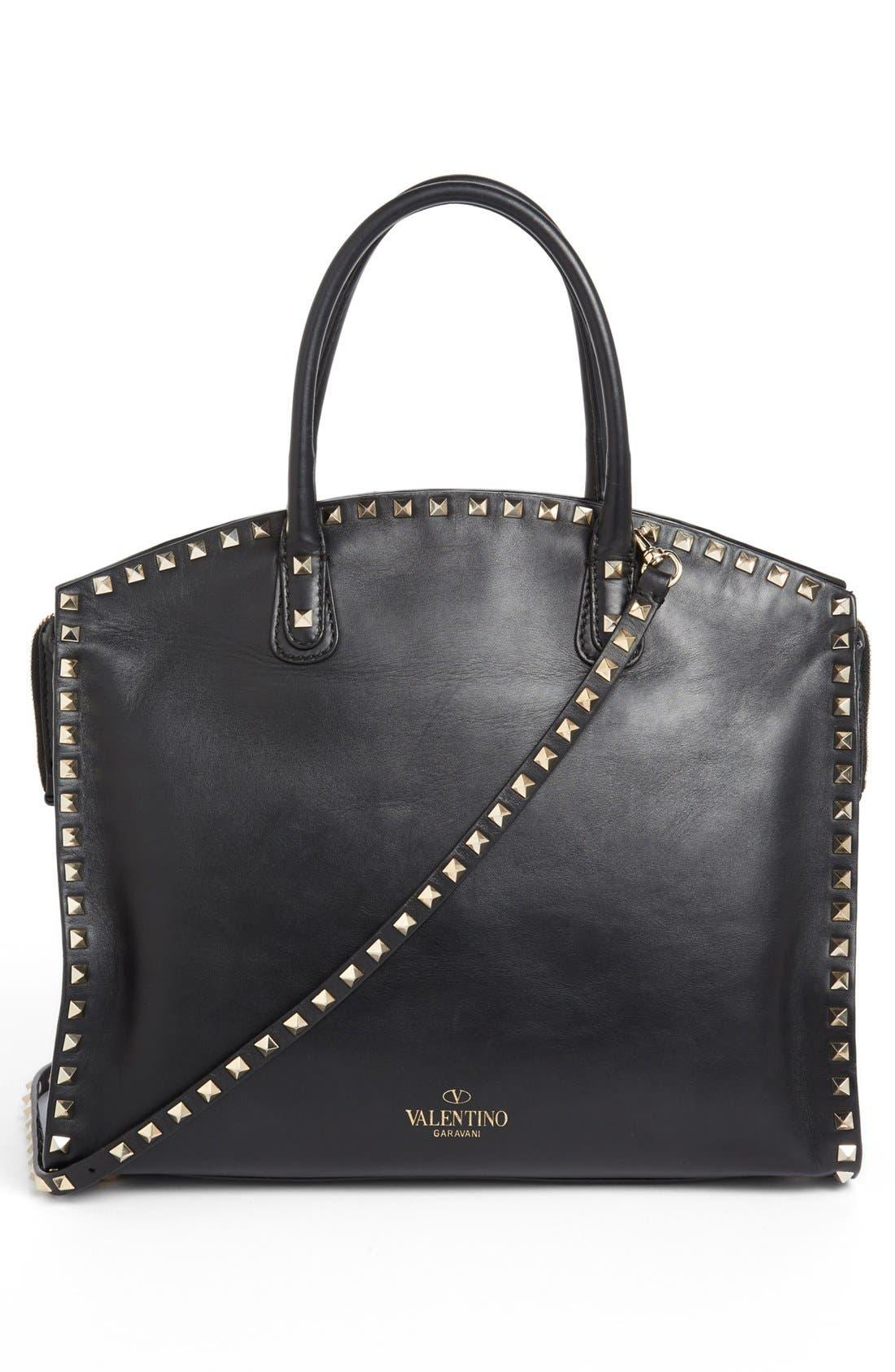 Alternate Image 4  - Valentino 'Rockstud - All Over' Dome Shopper