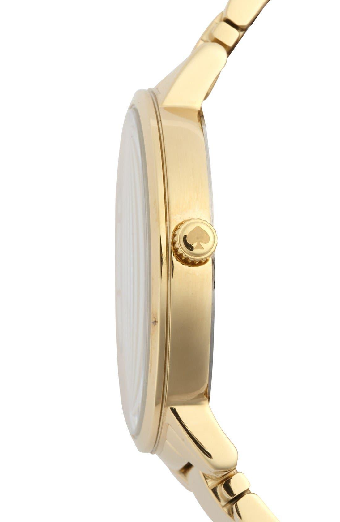 Alternate Image 4  - kate spade new york 'gramercy grand' bracelet watch, 38mm