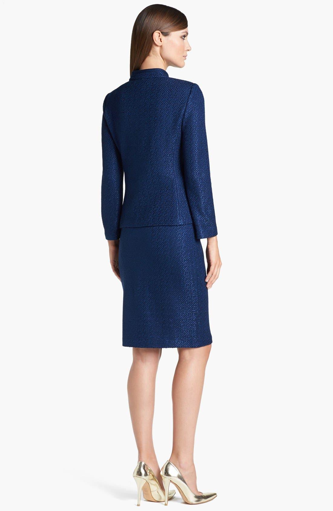 Alternate Image 3  - St. John Collection Stand Collar Tonal Dot Knit Jacket