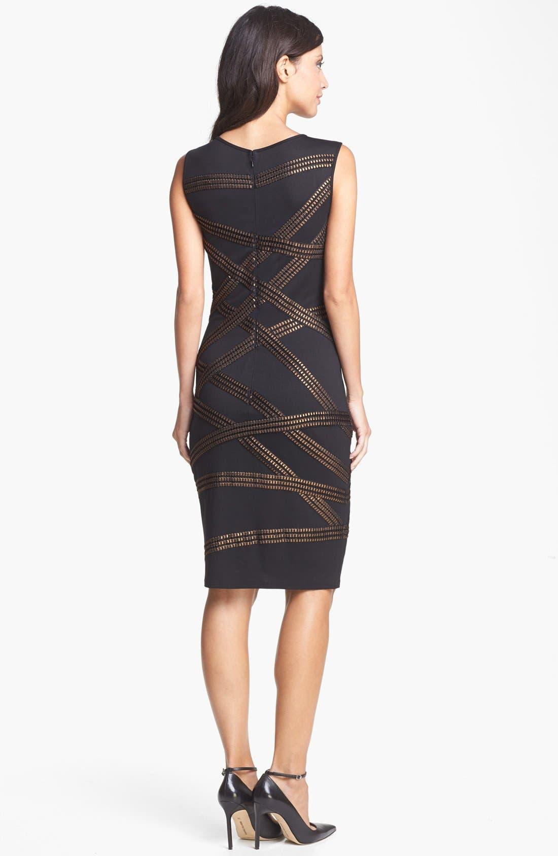 Alternate Image 2  - Tadashi Shoji Foil Detail Jersey Dress