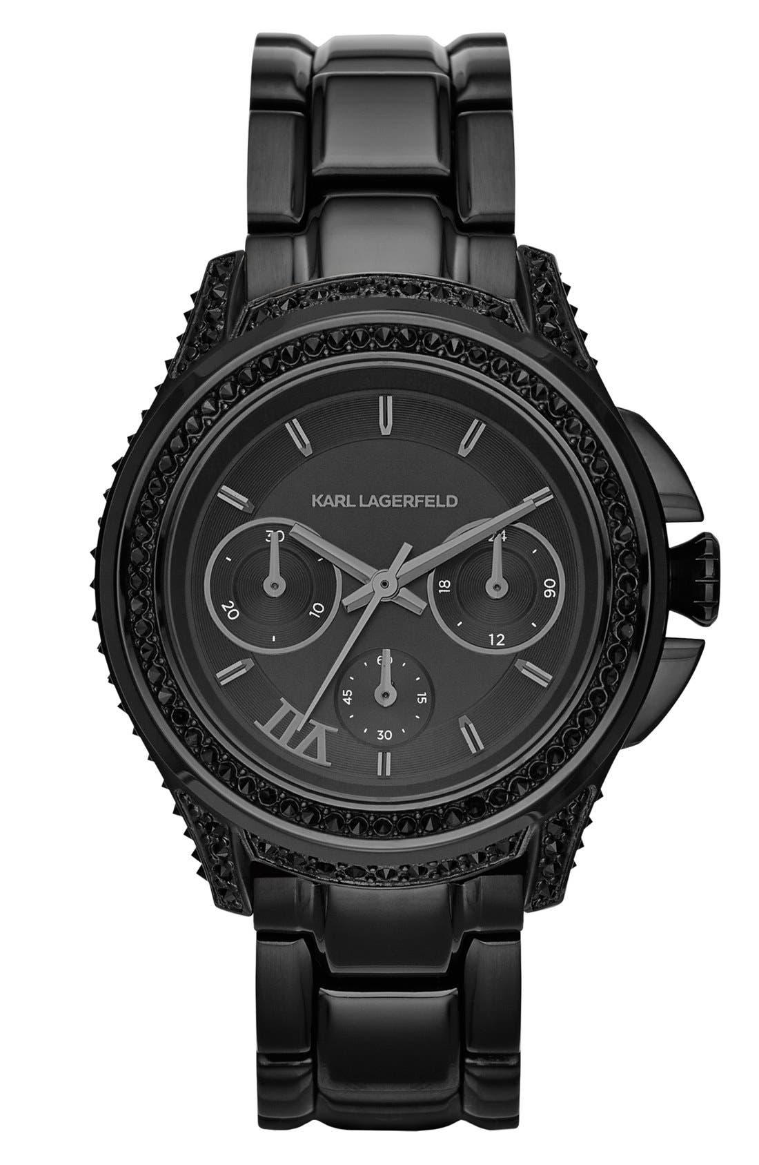 Main Image - KARL LAGERFELD '7' Bracelet Watch, 39mm