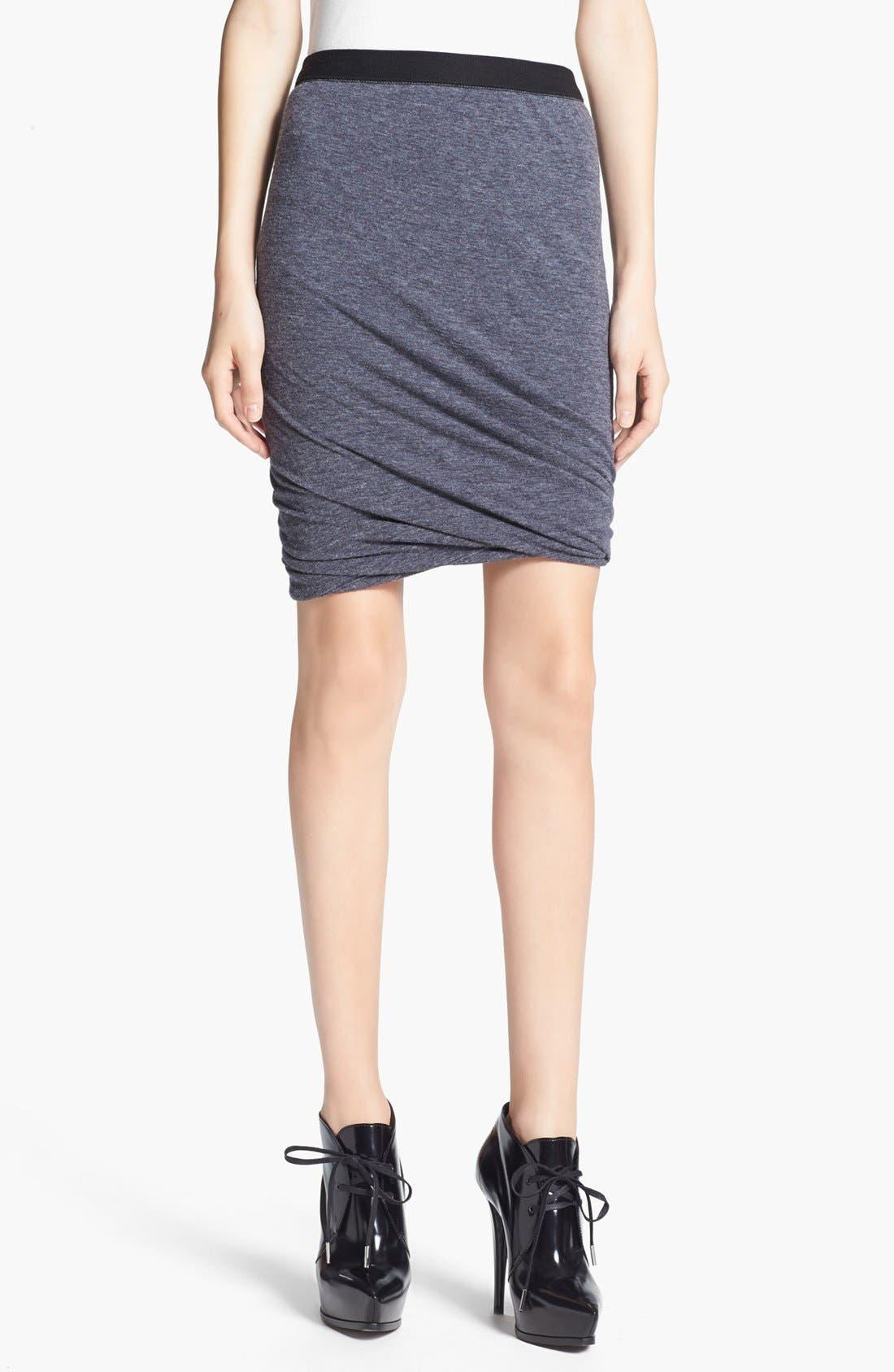 Alternate Image 1  - T by Alexander Wang Twisted Hem Jersey Skirt