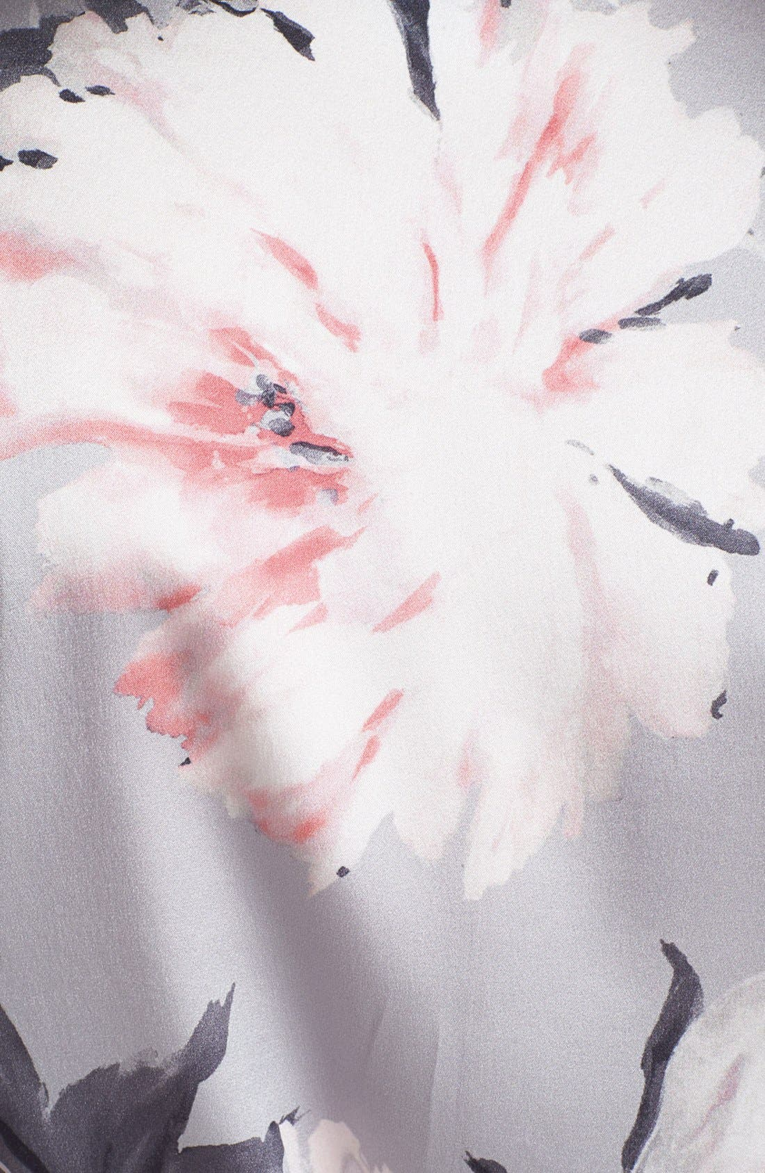 Alternate Image 5  - St. John Collection Dahlia Print Charmeuse Blouse (Online Only)