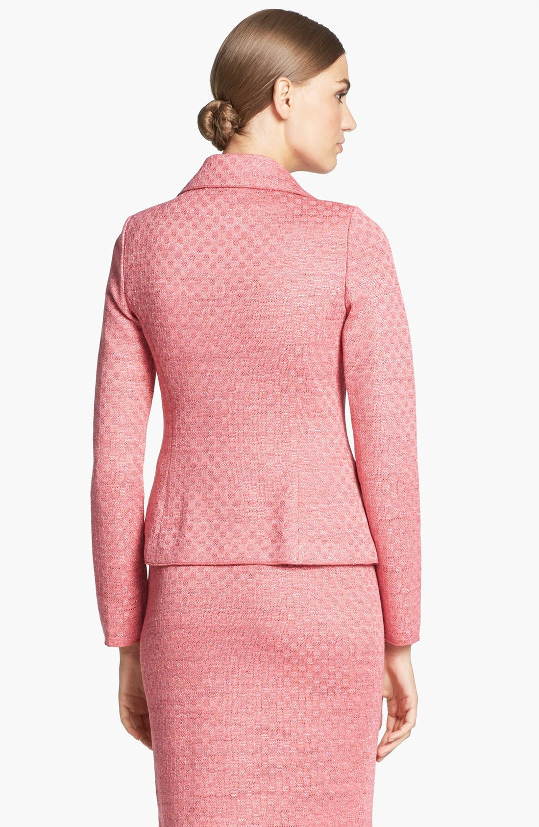 Alternate Image 4  - St. John Collection Damier Knit Fitted Jacket