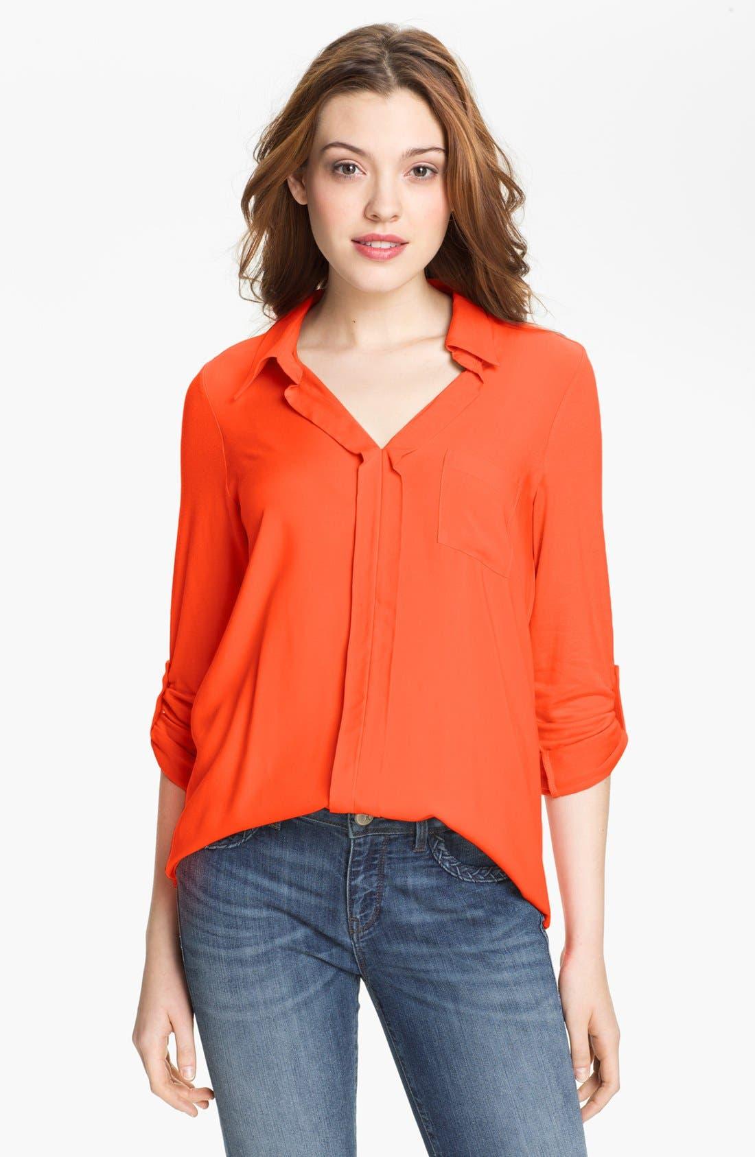 Main Image - Pleione Mixed Media Shirt
