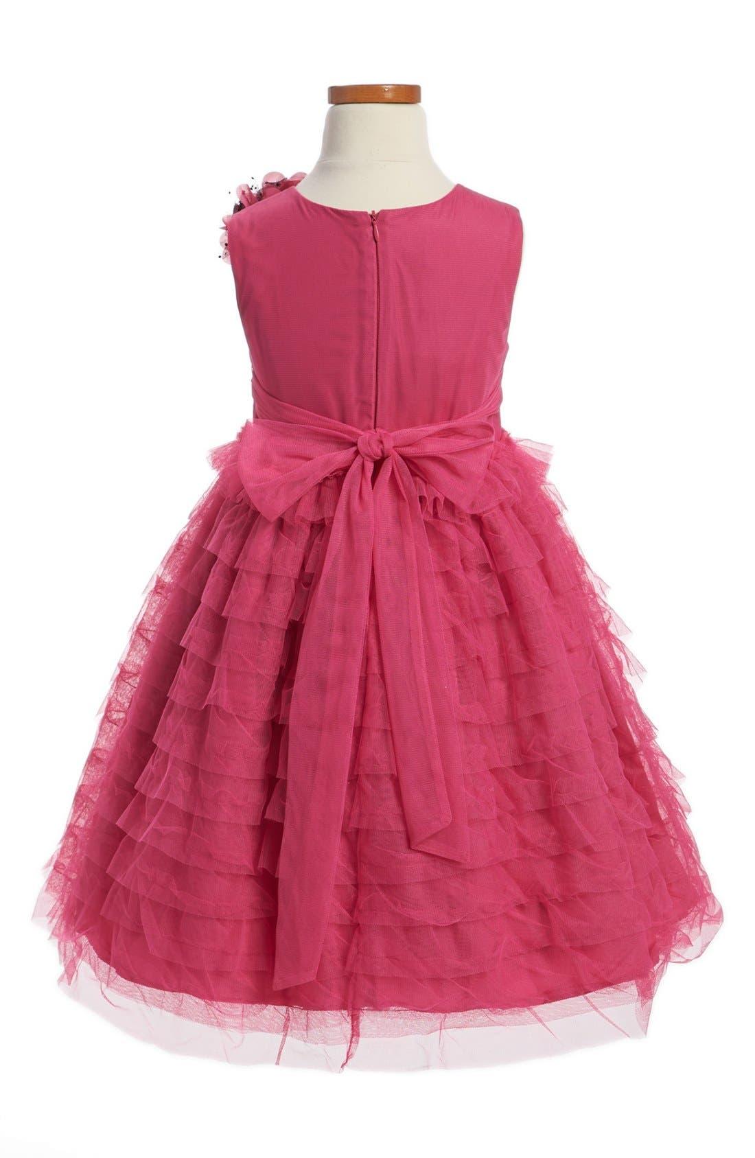 Alternate Image 2  - Pippa & Julie Ruffle Tulle Dress (Little Girls & Big Girls)
