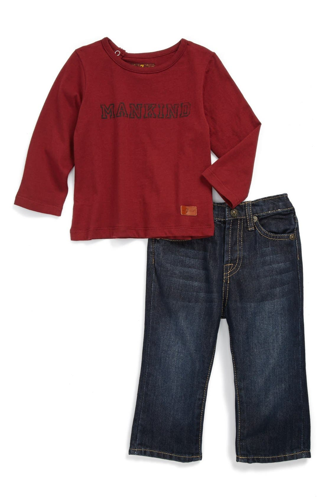 Alternate Image 1 Selected - 7 For All Mankind® T-Shirt & Jeans (Baby Boys)