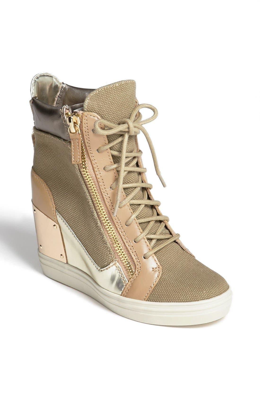 Alternate Image 1 Selected - Steve Madden 'Lexing' Wedge Sneaker