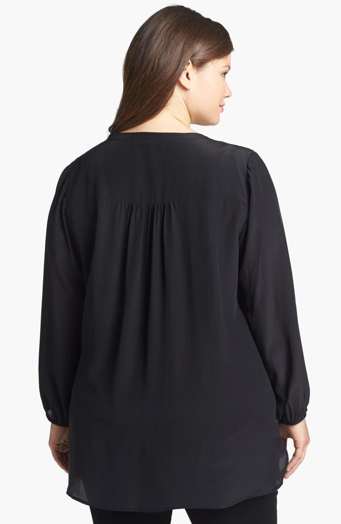 Alternate Image 2  - Daniel Rainn Silk Crepe Blouse (Plus Size)