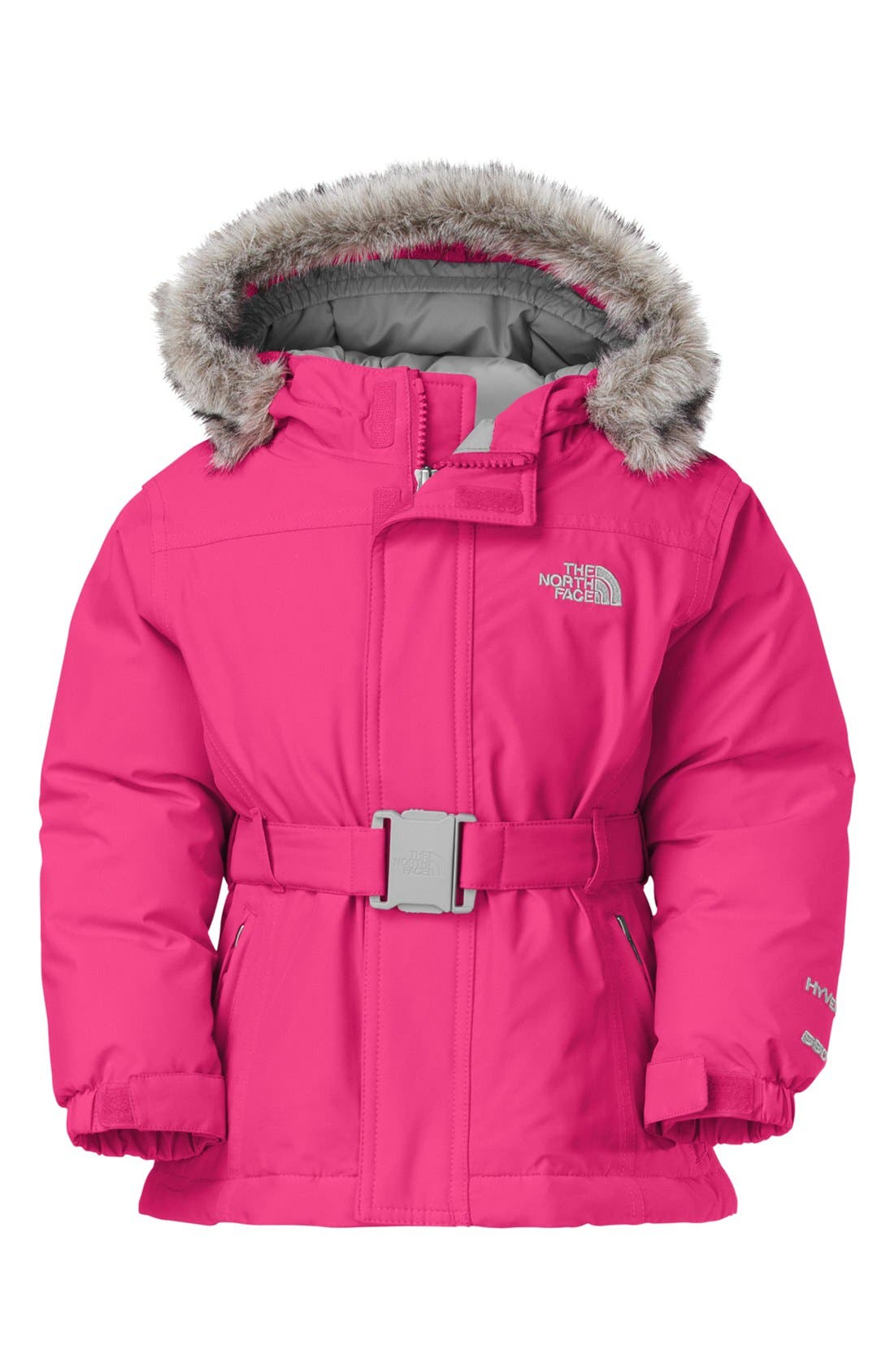 Main Image - The North Face 'Greenland' Waterproof 550-Fill Down Jacket (Toddler Girls)