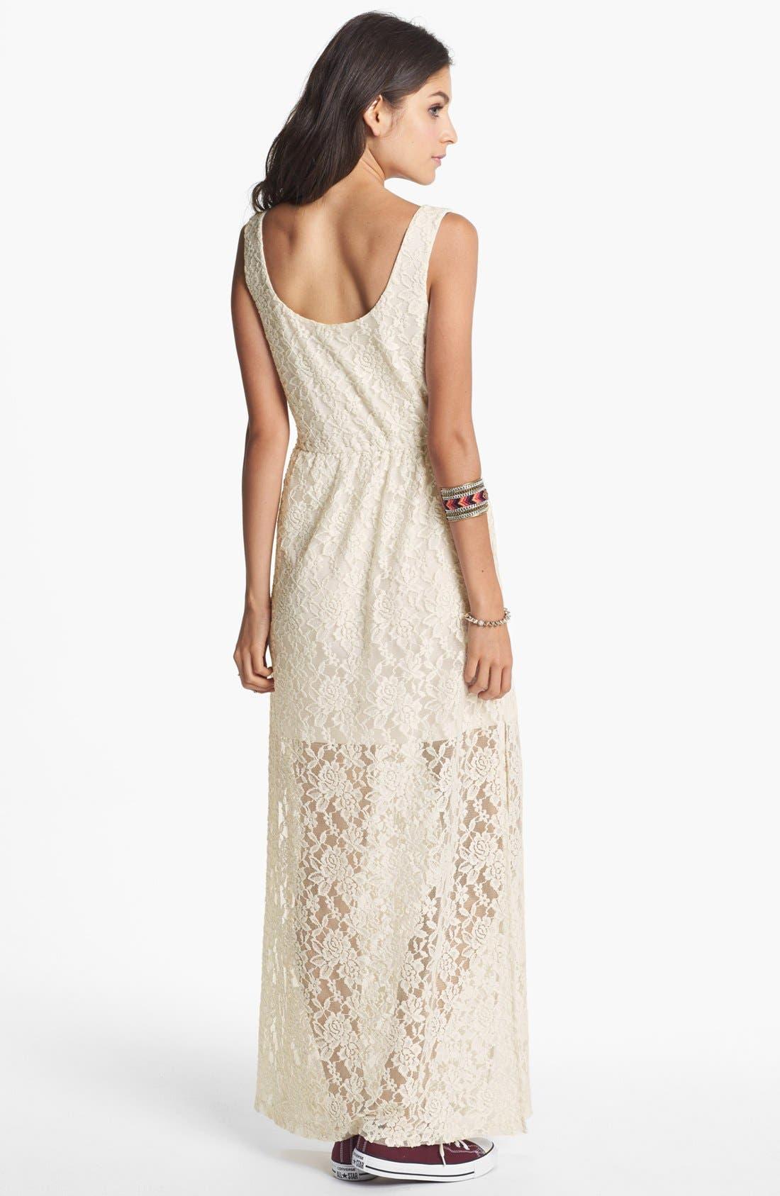 Alternate Image 2  - Mimi Chica Lace Maxi Dress (Juniors)