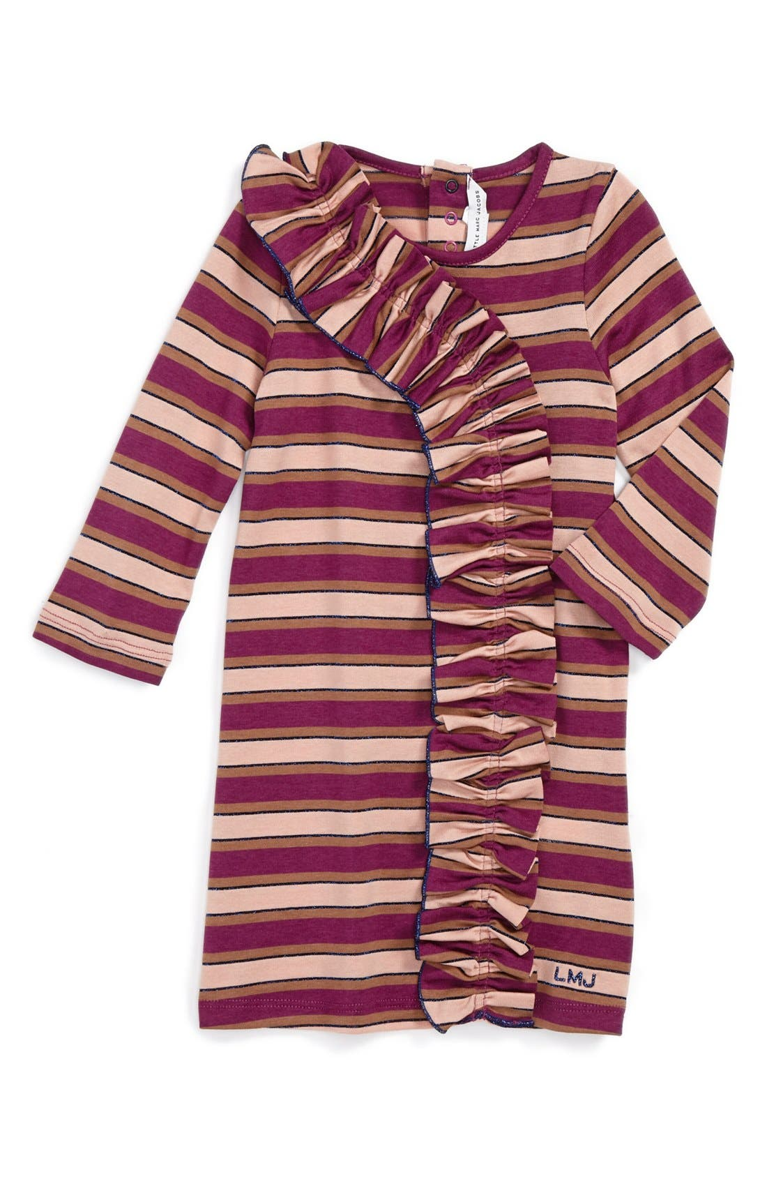 Main Image - LITTLE MARC JACOBS Ruffle Front Dress (Baby Girls)