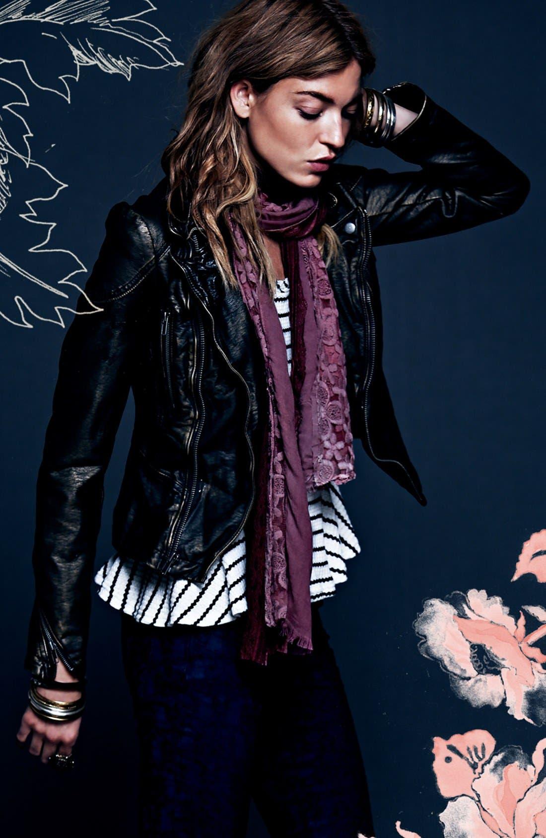 Alternate Image 4  - Free People Metallic Faux Leather Jacket