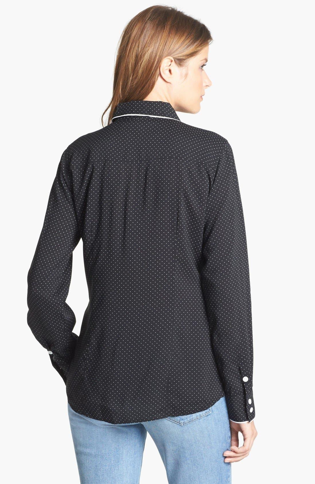 Alternate Image 2  - Foxcroft Pin Dot Shaped Shirt