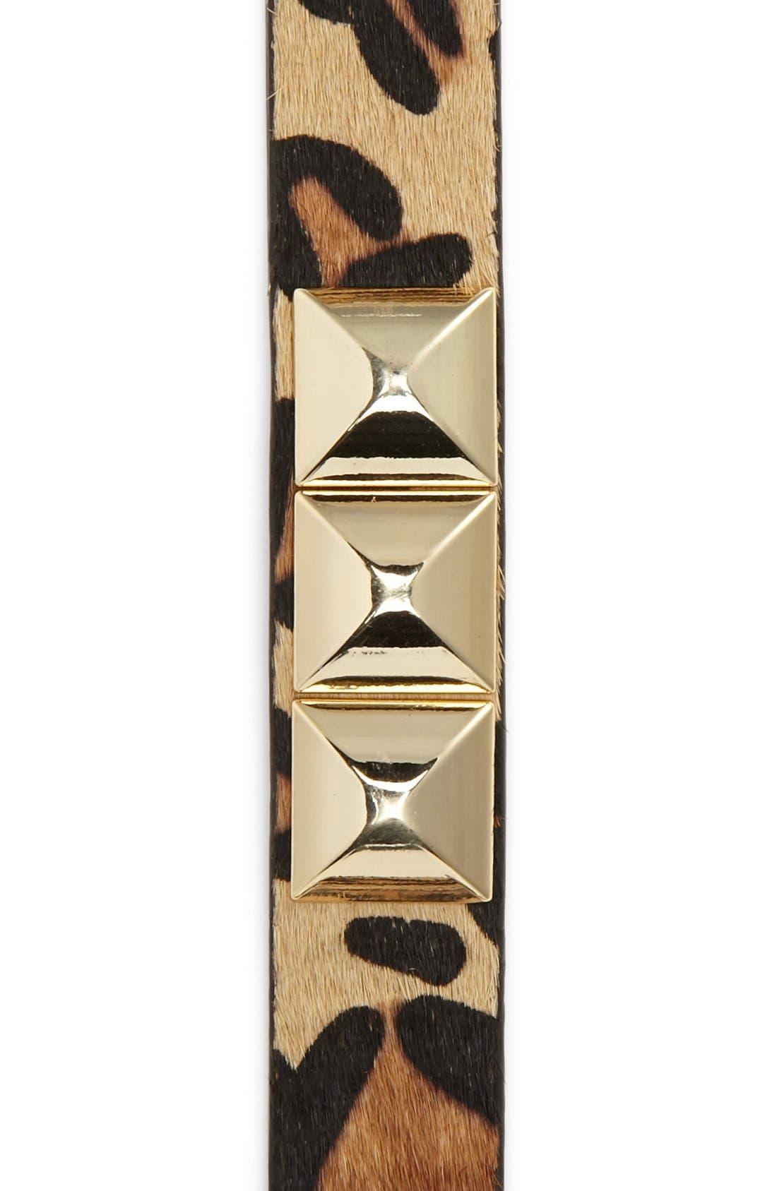 Alternate Image 3  - MICHAEL Michael Kors Studded Calf Hair Belt