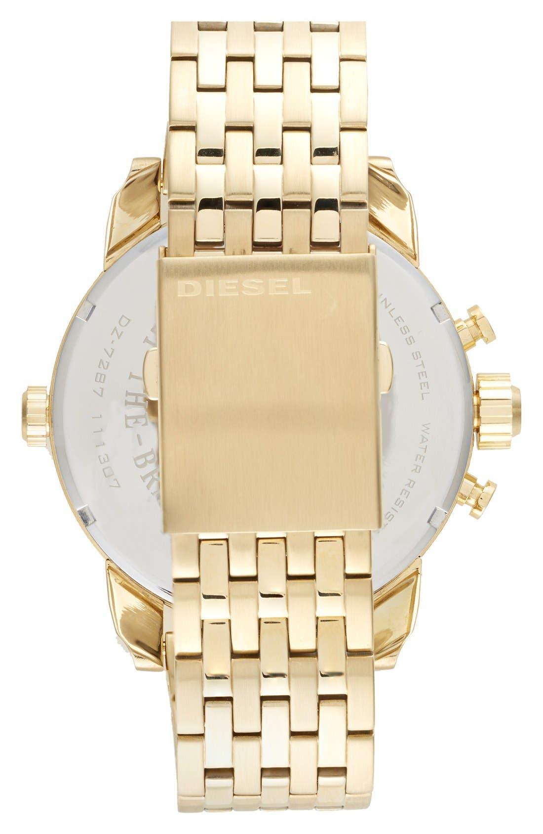 Alternate Image 2  - DIESEL® 'Little Daddy' Chronograph Bracelet Watch, 51mm