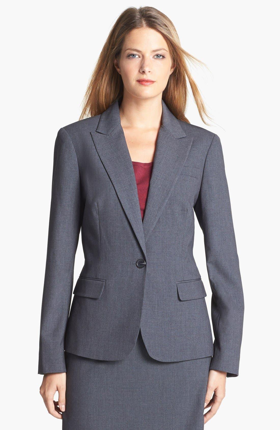 Alternate Image 1 Selected - Jones New York 'Julia' Single Button Jacket