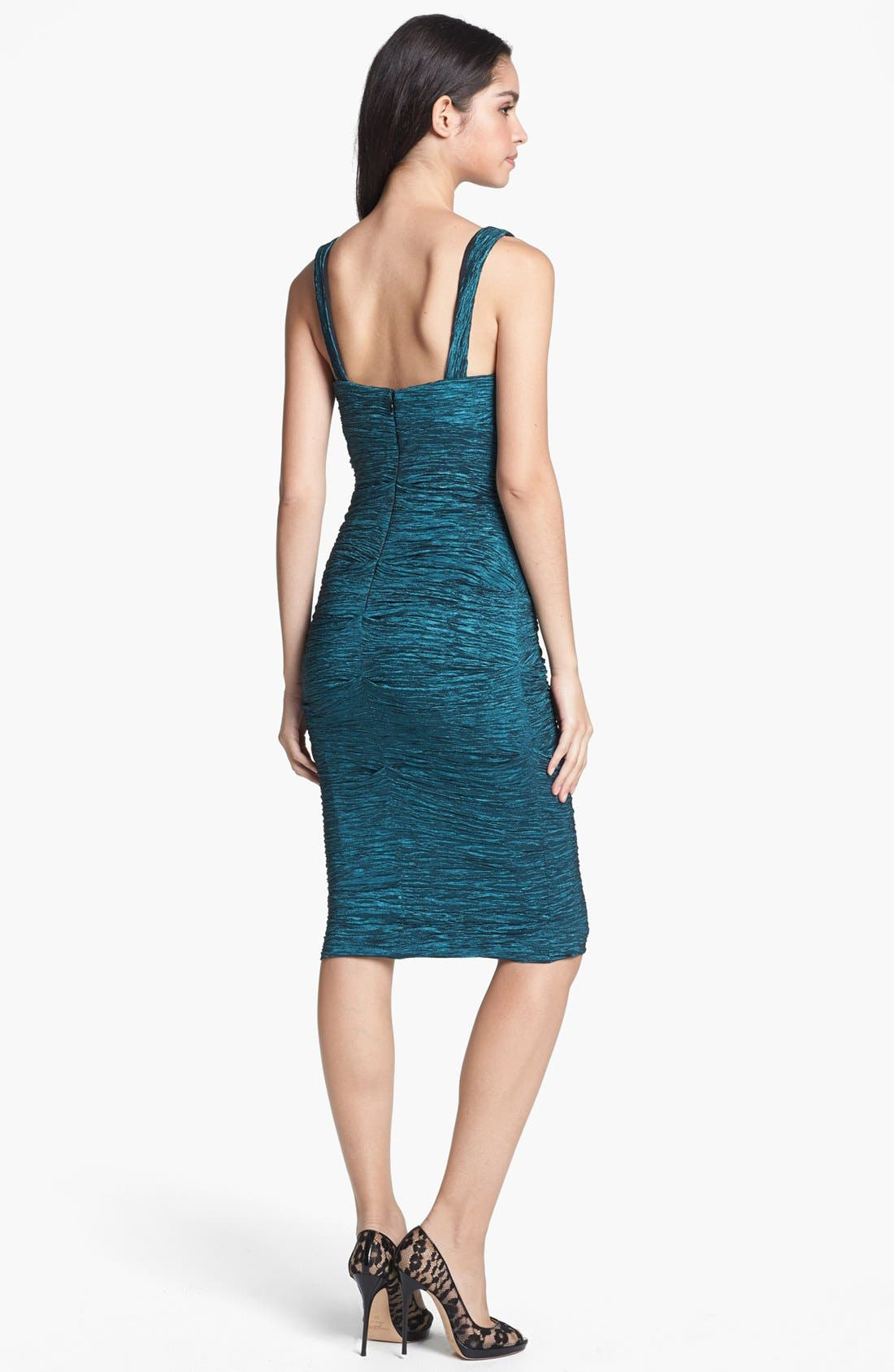 Alternate Image 2  - Xscape Crinkled Empire Sheath Dress